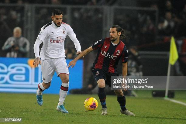 Andrea Poli of Bologna FC in action during the Serie A match between Bologna FC and AC Milan at Stadio Renato Dall'Ara on December 08, 2019 in...
