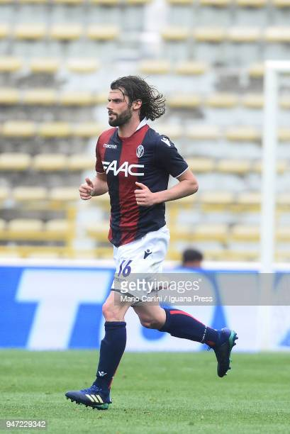 Andrea Poli of Bologna FC looks on during the serie A match between Bologna FC and Hellas Verona FC at Stadio Renato Dall'Ara on April 15 2018 in...