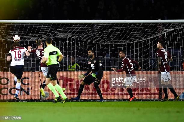Andrea Poli of Bologna FC scores a goal during the Serie A football match between Torino FC and Bologna FC Bologna FC won 32 over Torino FC