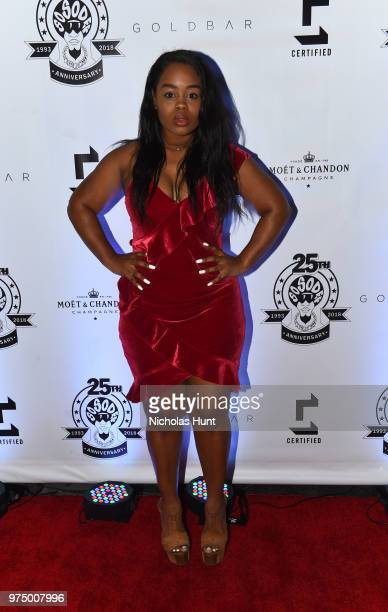 Andrea Rachel attends as Jermaine Dupri celebrates So So Def 25 and Songwriters Hall of Fame Induction at GoldBar Toasted by Moet Chandon on June 14...