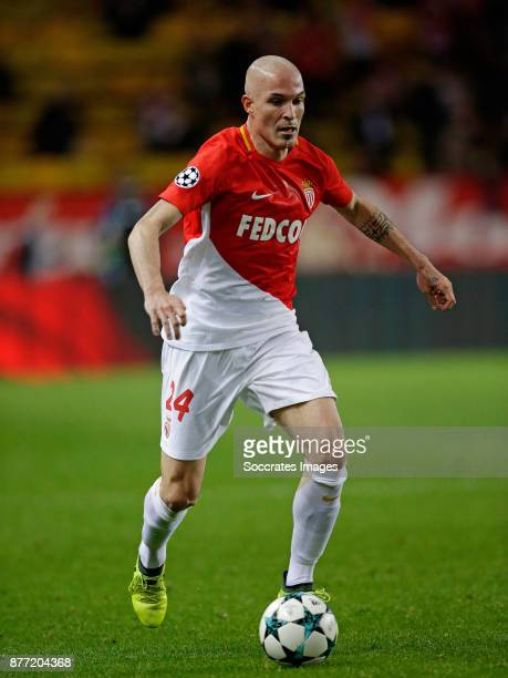 Andrea Raggi of AS Monaco during the UEFA Champions League match between AS Monaco v RB Leipzig at the Stade Louis II on November 21 2017 in Monaco...