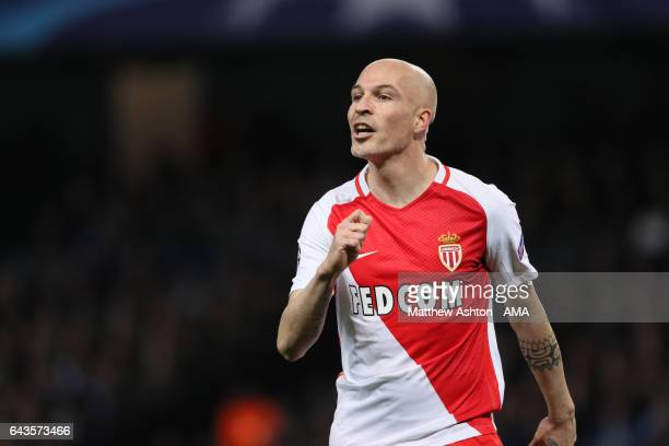 Andrea Raggi of AS Monaco during the UEFA Champions League Round of 16 first leg match between Manchester City FC and AS Monaco at Etihad Stadium on...