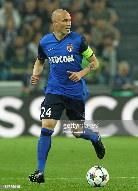 Andrea Raggi of AS Monaco FC in action during the UEFA Champions League Quarter Final First Leg match between Juventus and AS Monaco FC at Juventus...
