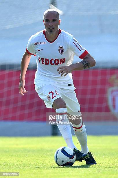 Andrea Raggi of AS Monaco in action during the preseason friendly match between Queens Park Rangers and AS Monaco on July 14 2015 in Chatillon Italy
