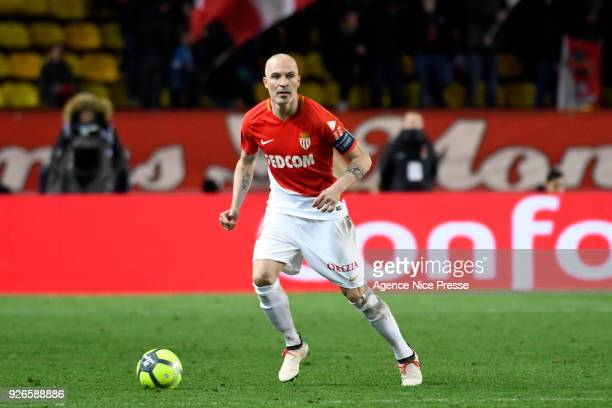 Andrea Raggi of Monaco during the Ligue 1 match between AS Monaco and FC Girondins de Bordeaux at Stade Louis II on March 2 2018 in Monaco Monaco