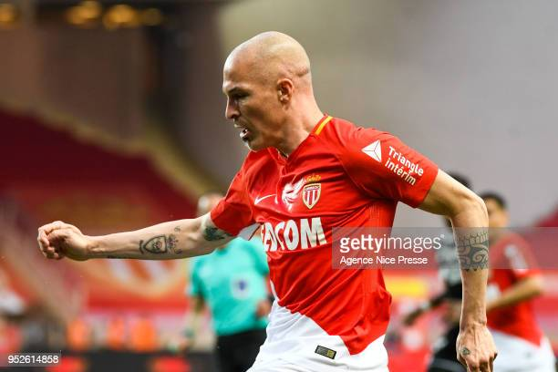 Andrea Raggi of Monaco during the Ligue 1 match between AS Monaco and Amiens SC at Stade Louis II on April 28 2018 in Monaco