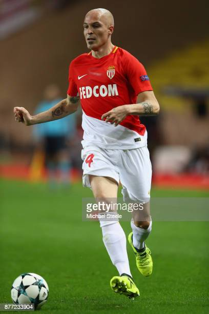 Andrea Raggi of Monaco during the UEFA Champions League group G match between AS Monaco and RB Leipzig at Stade Louis II on November 21 2017 in...
