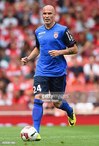 Andrea Raggi of Monaco in action during the Emirates Cup match between Valencia and AS Monaco at the Emirates Stadium on August 2 2014 in London...