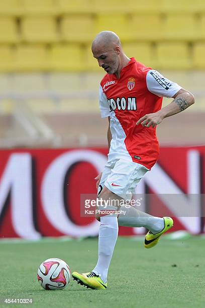 Andrea Raggi of Monaco in action during the French Ligue 1 match between AS Monaco FC and LOSC Lille at Louis II Stadium on August 30 2014 in Monaco...