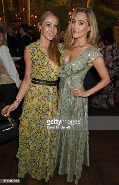 Andrea Rajacic and Jacqui Ainsley attend the Annabel's x Dior dinner on May 21 2018 in London England