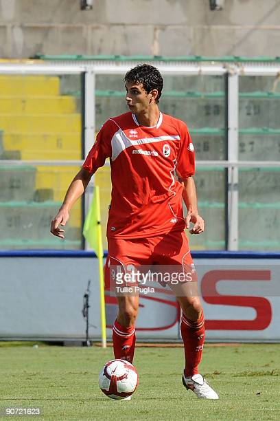 Andrea Ranocchia of Bari in action during the Serie A match played between US Citta di Palermo and AS Bari at Stadio Renzo Barbera on September 13...
