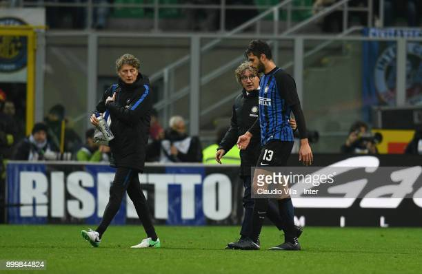Andrea Ranocchia of FC Internazionale during the serie A match between FC Internazionale and SS Lazio at Stadio Giuseppe Meazza on December 30 2017...