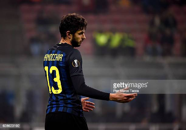 Andrea Ranocchia of FC Internazionale gestures during the UEFA Europa League match between FC Internazionale Milano and AC Sparta Praha at Stadio...