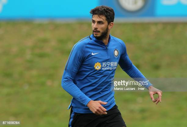 Andrea Ranocchia of FC Internazionale looks on during the FC Internazionale training session at the club's training ground 'La Pinetina' on November...