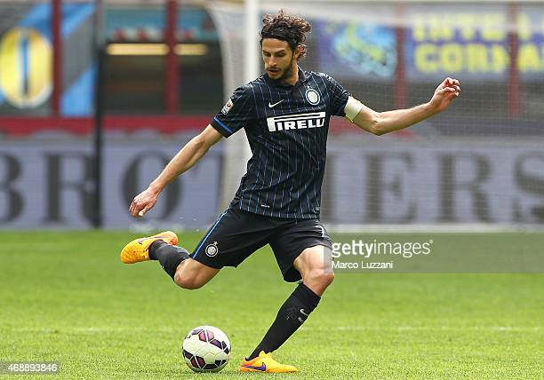 Andrea Ranocchia of FC Internazionale Milano in action during the Serie A match between FC Internazionale Milano and Parma FC at Stadio Giuseppe...