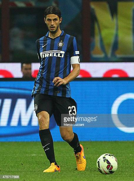 Andrea Ranocchia of FC Internazionale Milano in action during the Serie A match between FC Internazionale Milano and Empoli FC at Stadio Giuseppe...