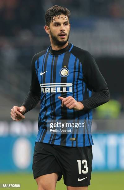 Andrea Ranocchia of FC Internazionale Milano looks on during the Serie A match between FC Internazionale and AC Chievo Verona at Stadio Giuseppe...
