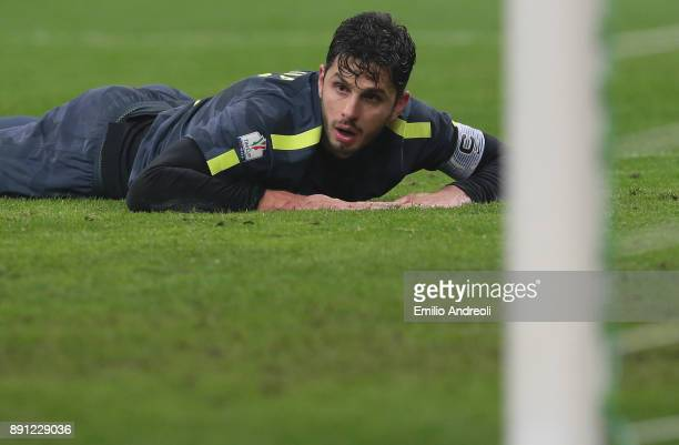Andrea Ranocchia of FC Internazionale Milano looks on during the TIM Cup match between FC Internazionale and Pordenone at Stadio Giuseppe Meazza on...