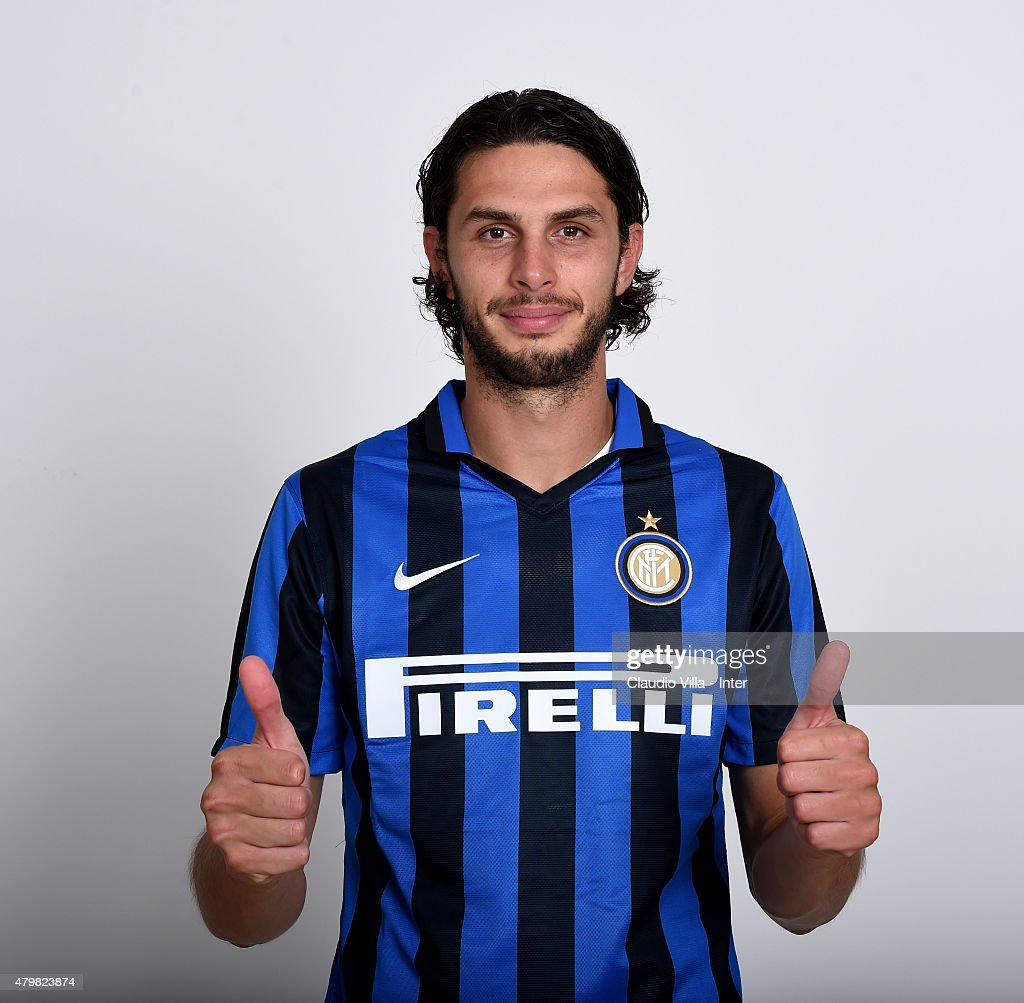 Andrea Ranocchia of FC Internazionale poses for his Serie A 2015-2016 season official headshot at Riscone di Brunico on July 7, 2015 in Bruneck, Italy.