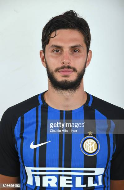 Andrea Ranocchia of FC Internazionale poses on July 8 2017 in Reischach near Bruneck Italy
