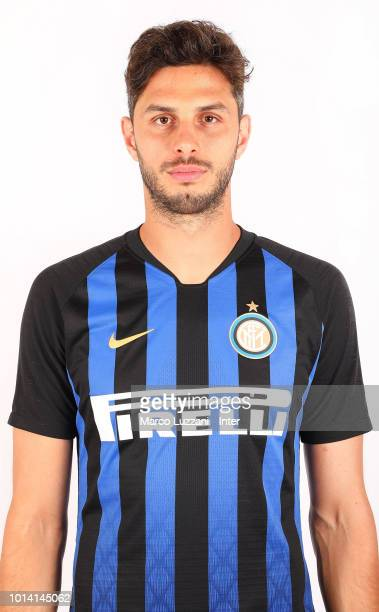 Andrea Ranocchia of FC Internazionale poses with the club shirt at the club's training ground Suning Training Center in memory of Angelo Moratti on...