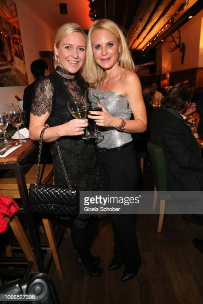 Andrea Raudies and Fashion designer Sonja Kiefer during the Christmas Charity Dinner hosted by StefanMross AnnaCarinaWoitschack and Connections PR...