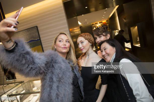 Andrea Rinaldi and Ginger Dietrich attends the City Center Washington Ballet Event at David Yurman on November 17 2017 in Washington DC