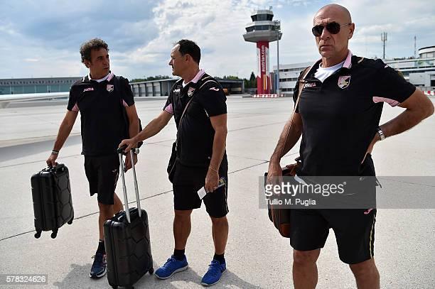 Andrea Rinaldi Carlo Regno and Davide Ballardini of Palermo are embarking to flight to Debrecen for a friendly match shedulated for tomorrow on...