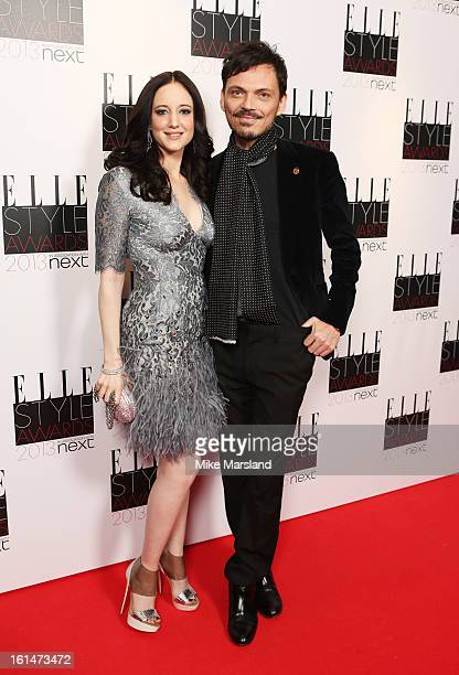 Andrea Riseborough and Matthew Williamson attend the Elle Style Awards 2013 at The Savoy Hotel on February 11 2013 in London England