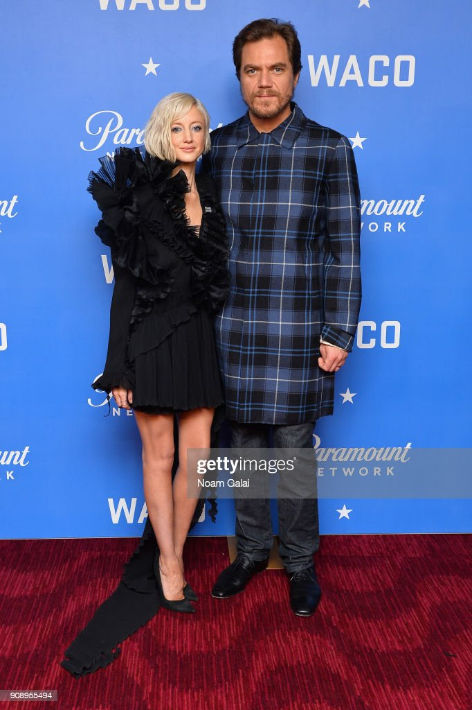 Andrea Riseborough and Michael Shannon attend the world premiere of WACO presented by Paramount Network at Jazz at Lincoln Center on January 22, 2018 in New York City.