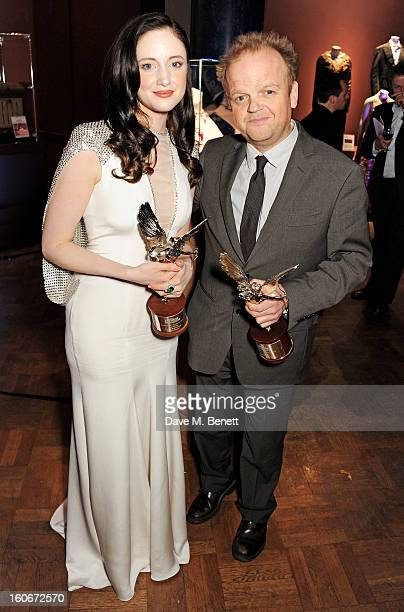 Andrea Riseborough and Toby Jones attend the London Evening Standard British Film Awards supported by Moet Chandon and Chopard at the London Film...
