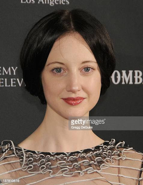 Andrea Riseborough arrives at the 17th Annual BAFTA Los Angeles Awards Season Tea Party at the Four Seasons Hotel on January 15 2011 in Los Angeles...