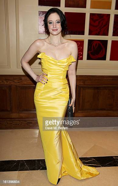 Andrea Riseborough arrives at the after party following the EE British Academy Film Awards at Grosvenor House on February 10 2013 in London England