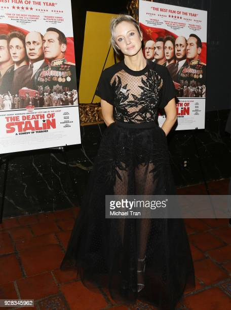 Andrea Riseborough arrives to the Los Angeles premiere of IFC Films' 'The Death Of Stalin' held at The Theatre at Ace Hotel on March 6 2018 in Los...
