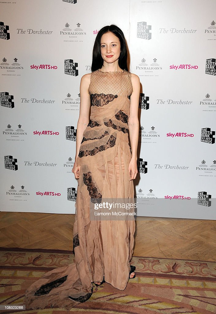 Andrea Riseborough at the South Bank Sky Arts Awards at The Dorchester on January 25, 2011 in London, England.