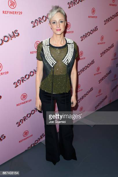 Andrea Riseborough attends Refinery29 29Rooms Los Angeles Turn It Into Art Opening Night Party at ROW DTLA on December 6 2017 in Los Angeles...