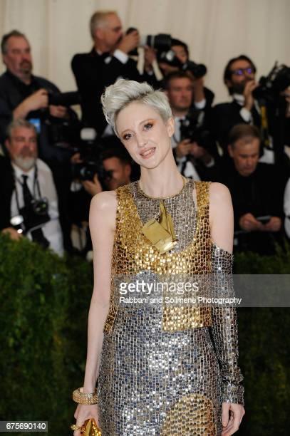 Andrea Riseborough attends 'Rei Kawakubo/Comme des Garcons Art Of The InBetween' Costume Institute Gala Arrivals at Metropolitan Museum of Art on May...