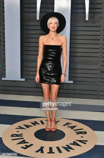 Andrea Riseborough attends the 2018 Vanity Fair Oscar Party hosted by Radhika Jones at Wallis Annenberg Center for the Performing Arts on March 4...