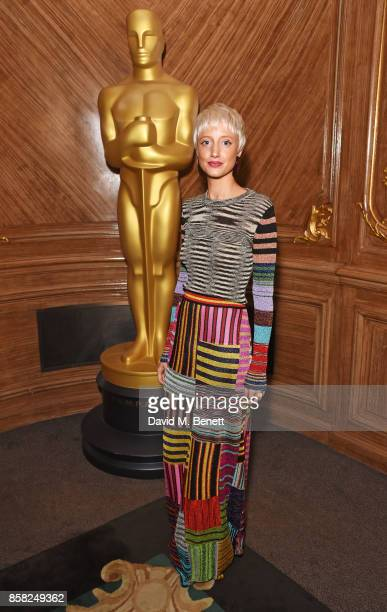 Andrea Riseborough attends the Academy of Motion Picture Arts and Sciences Women In Film luncheon at Claridge's Hotel on October 6 2017 in London...