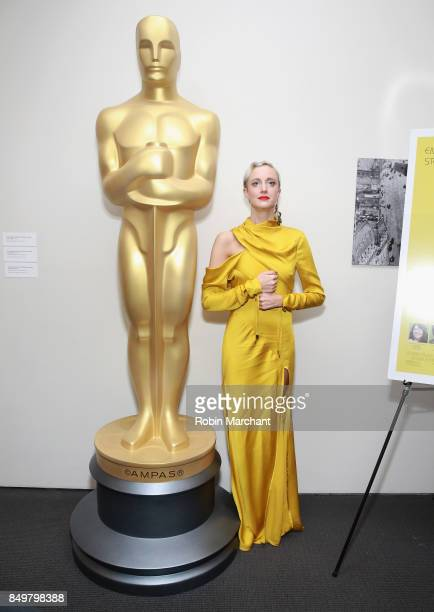 Andrea Riseborough attends The Academy of Motion Picture Arts Sciences Hosts an Official Academy Screening of THE BATTLE OF THE SEXES at MOMA on...
