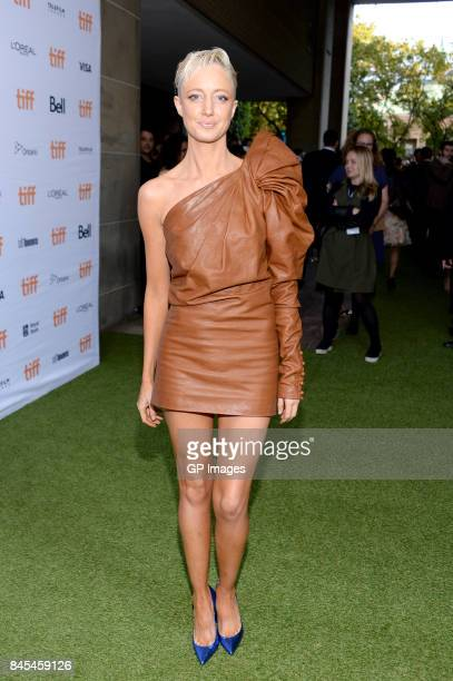Andrea Riseborough attends the Battle of the Sexes premiere during the 2017 Toronto International Film Festival at Ryerson Theatre on September 10...