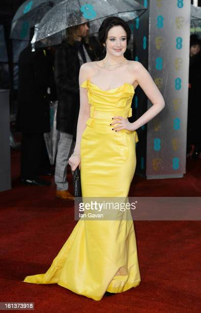 Andrea Riseborough attends the EE British Academy Film Awards at The Royal Opera House on February 10 2013 in London England