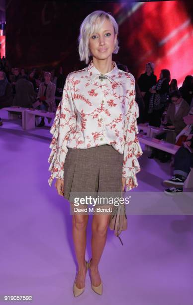 Andrea Riseborough attends the Mulberry 'Beyond Heritage' SS18 Presentation during London Fashion Week February 2018 at Spencer House on February 16...