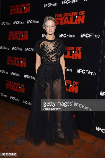 Andrea Riseborough attends the premiere of IFC Films' 'The Death Of Stalin' at The Theatre at Ace Hotel on March 6 2018 in Los Angeles California