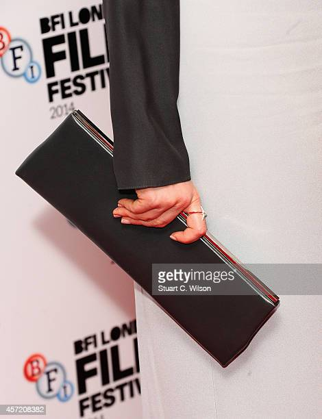 Andrea Riseborough attends the red carpet arrivals of Silent Storm during the 58th BFI London Film Festival at Vue Leicester Square on October 14...