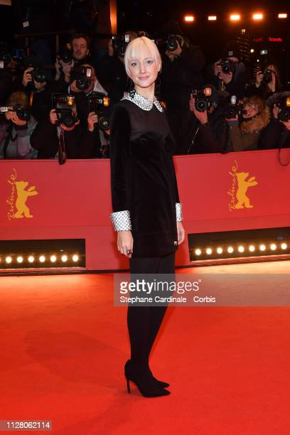 Andrea Riseborough attends the 'The Kindness Of Strangers' premiere during the 69th Berlinale International Film Festival Berlin at Berlinale Palace...
