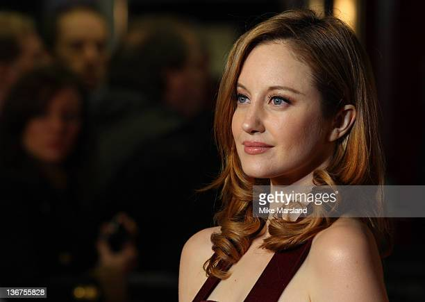 Andrea Riseborough attends the UK premiere of WE at ODEON Kensington on January 11 2012 in London England