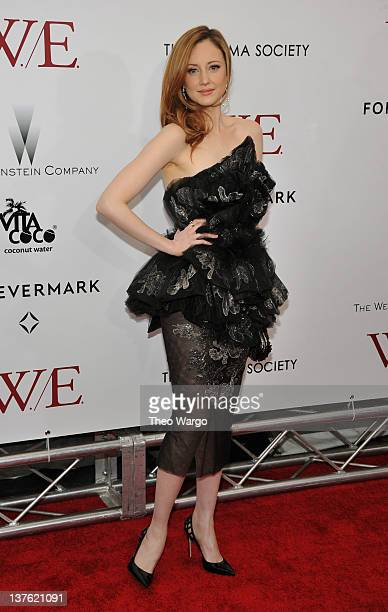 Andrea Riseborough attends The Weinstein Company with The Cinema Society Forevermark premiere of WE at the Ziegfeld Theater on January 23 2012 in New...