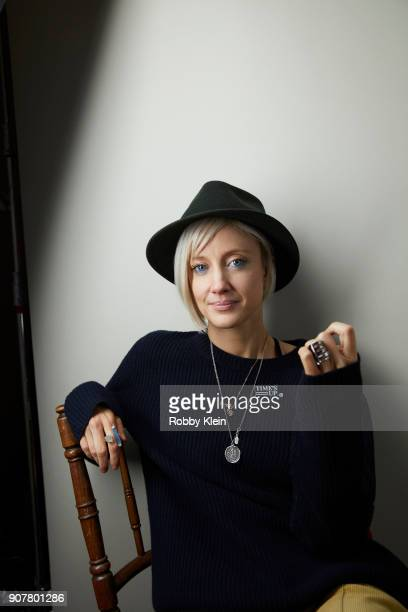 Andrea Riseborough from the film 'Mandy' poses for a portrait at the YouTube x Getty Images Portrait Studio at 2018 Sundance Film Festival on January...