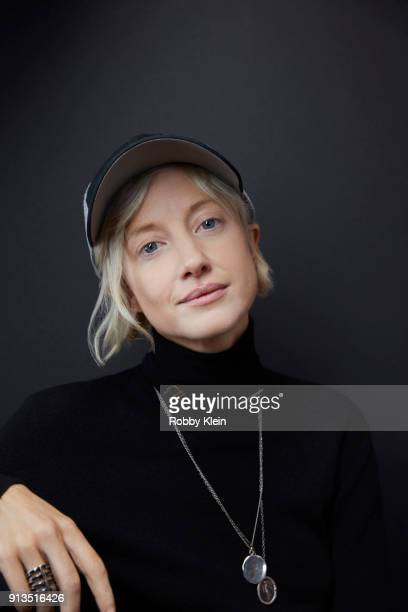 Andrea Riseborough from the film 'The Death of Stalin' poses for a portrait in the YouTube x Getty Images Portrait Studio at 2018 Sundance Film...
